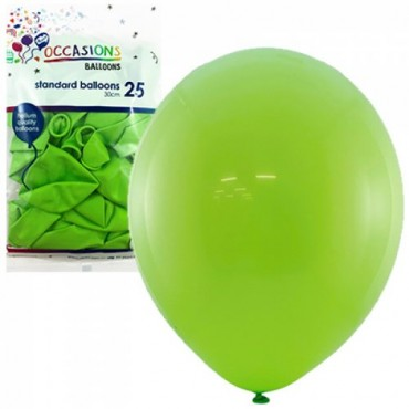"""Balloons 11"""" Metallic Red Pk25"""